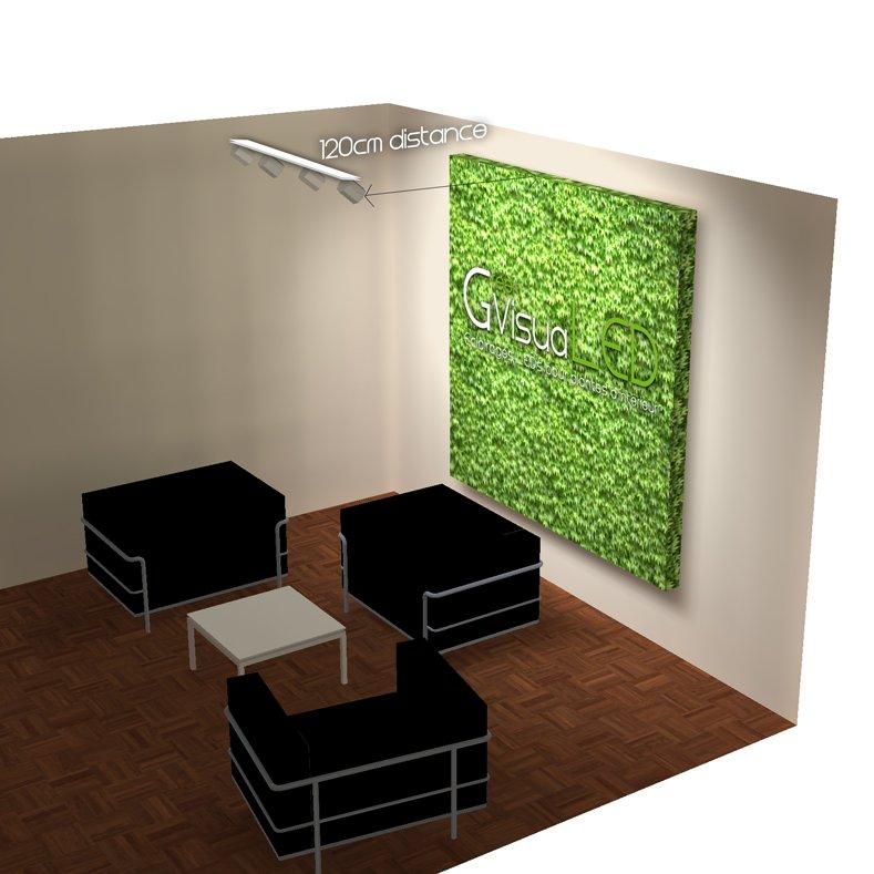 Eclairage mur végétal avec lampe horticole led 2m x 2m