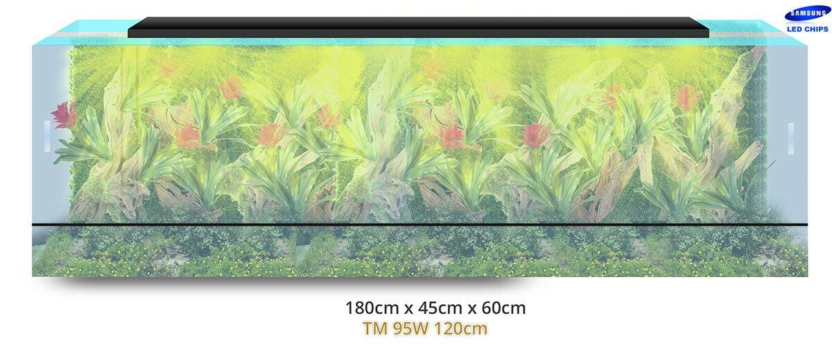- terrarium terraled tm 120cm 95w1 - Lampes horticoles LEDs pour terrariums tropicaux, paludariums – TerraLED