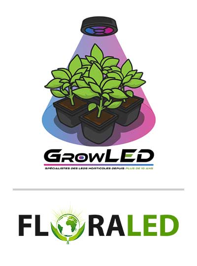logo floraled growled marques led horticole